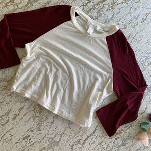 Forever 21 Baseball Style Crop Top